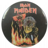 Iron Maiden - 'Number of the Beast Single' Button Badge